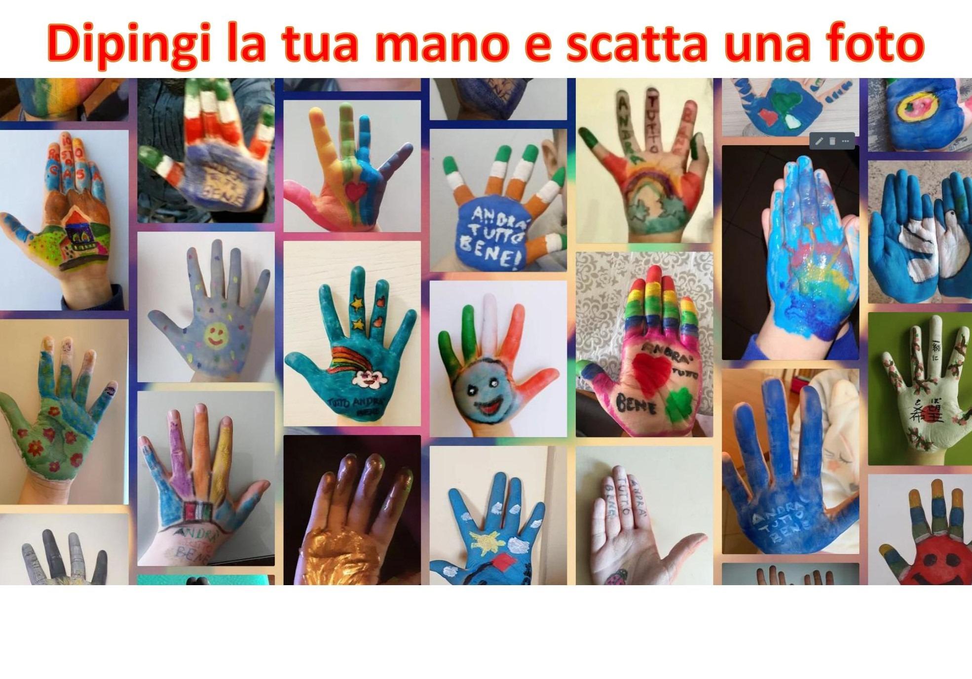Dipingi la tua mano e scatta una foto